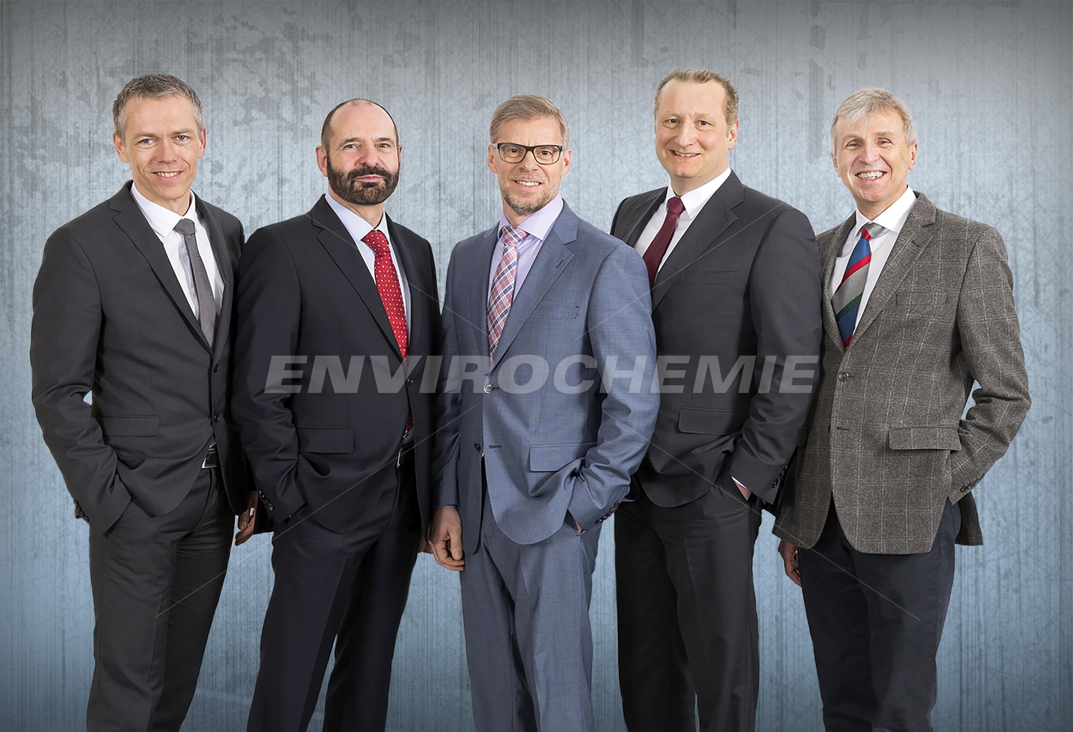 Conselho Diretor da EnviroChemie (da esquerda):