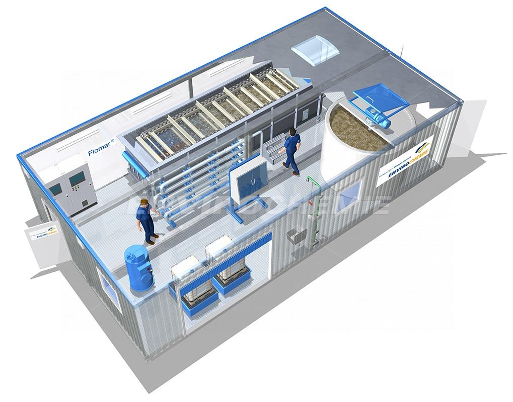 EnviModul Flomar, modular flotation plant