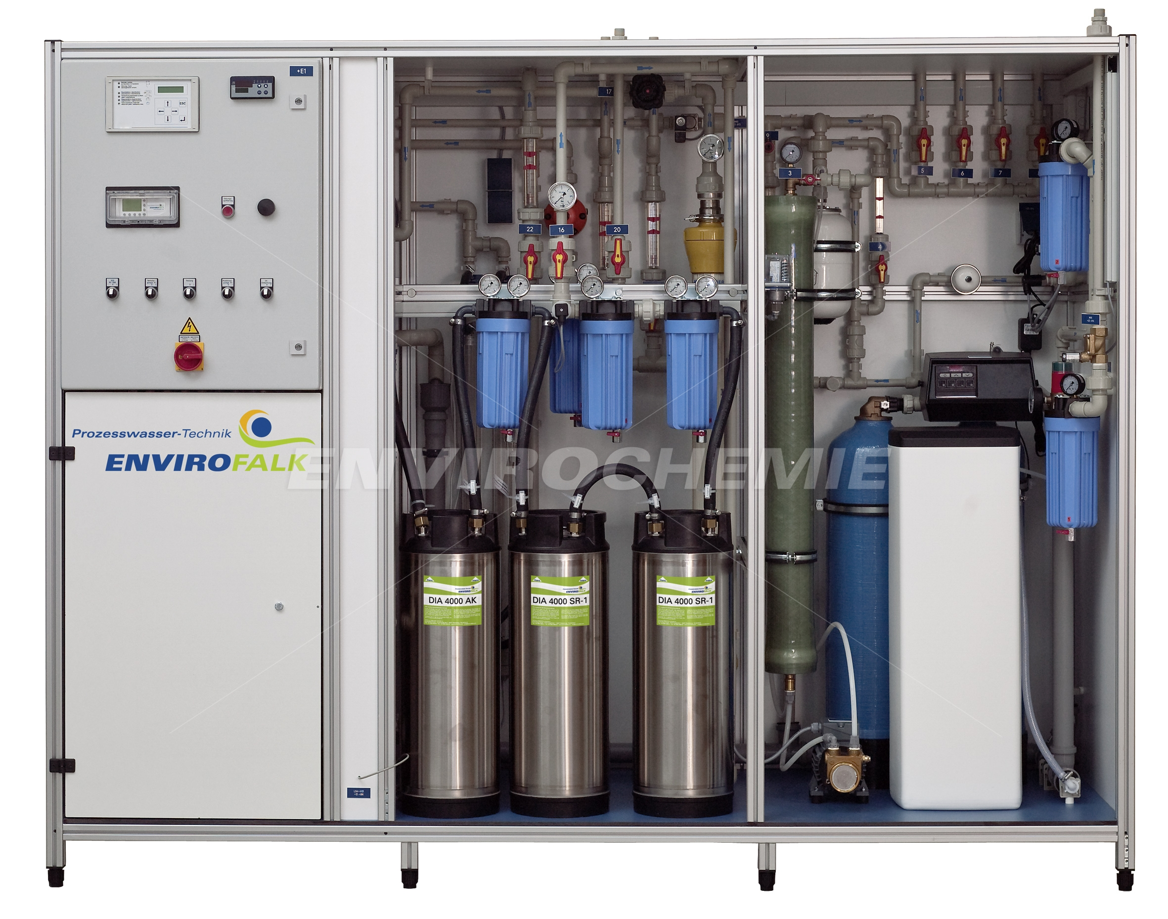 EnviroFALK water treatment system consisting of