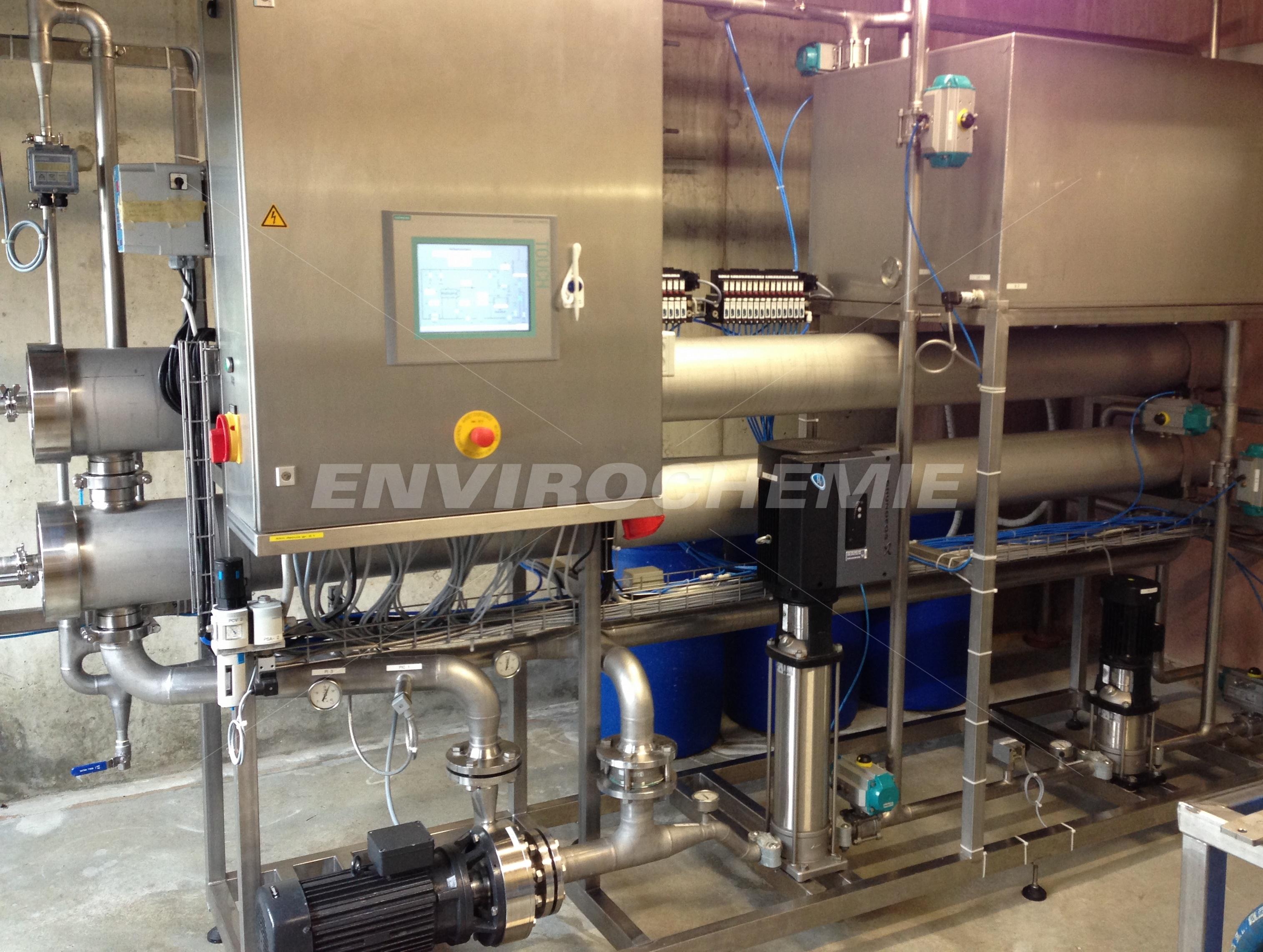 Kompakt-Membransystem für Lebensmittelindustrie