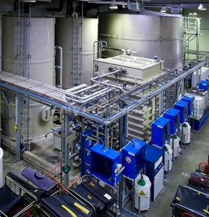 Wasserrückgewinnung für eine Großwäscherei