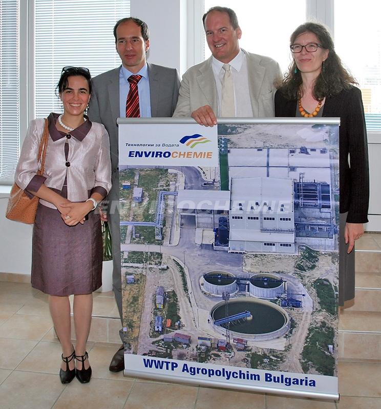 V.l.n.r.: Dr. Maria Natcheva, EnviroChemie