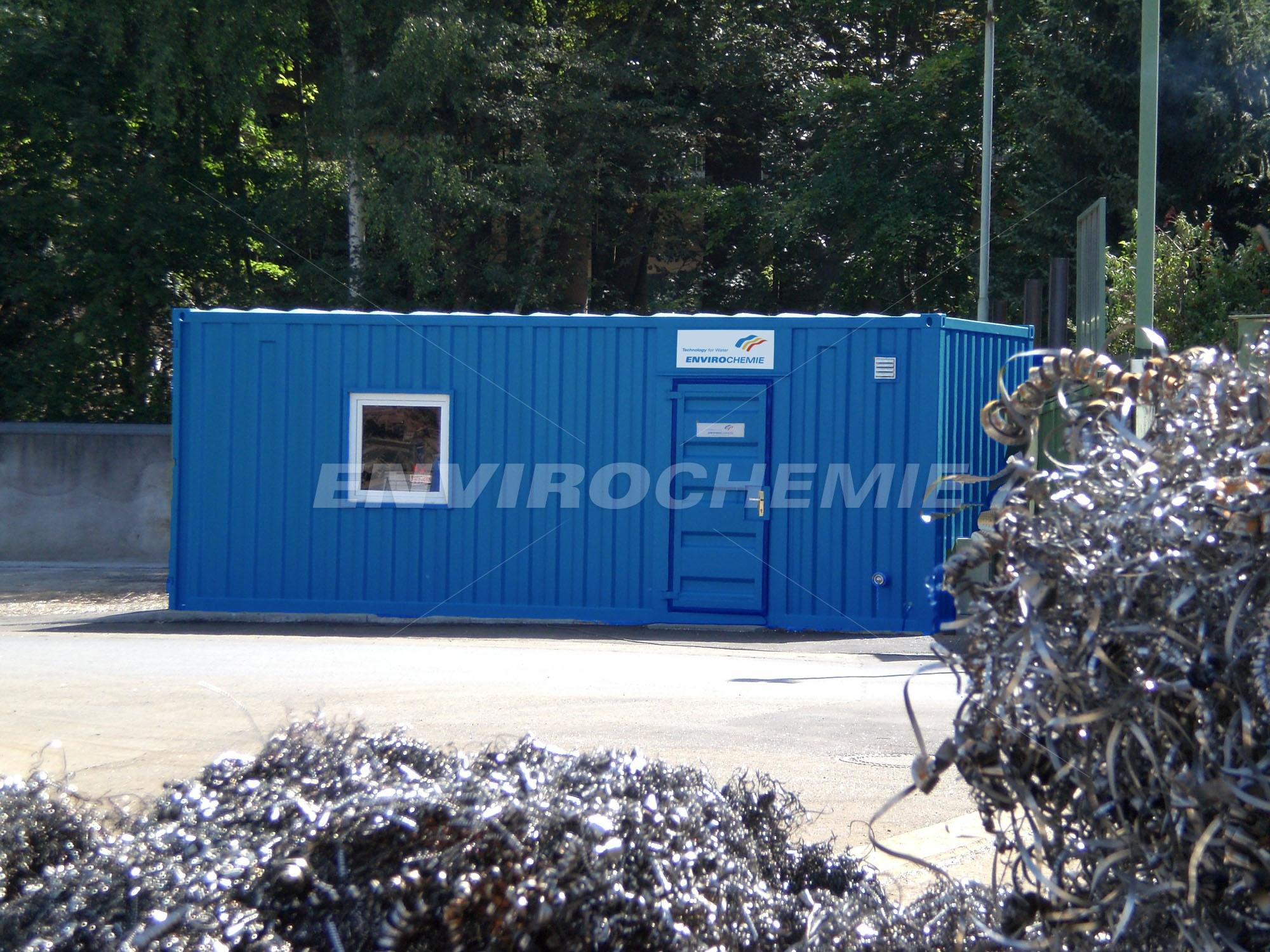 Kompakte Lugan Flotationsanlage im Technikmodul