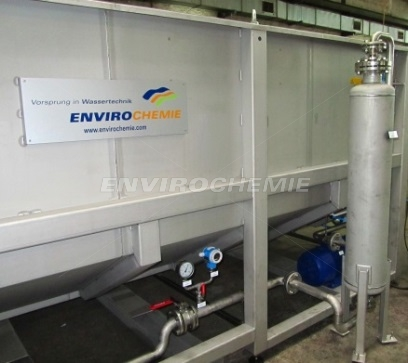 The new EnviroChemie injector system (to the right